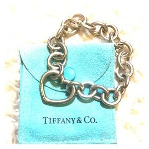 Authentic Rare Tiffany&co. Heart clasp Bracelet